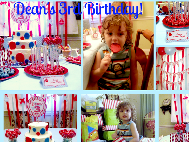Dean's 3rd Birthday!
