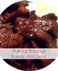 Pulkogi/Bulgogi Korean BBQ Beef