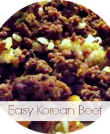Easy Korean Beef