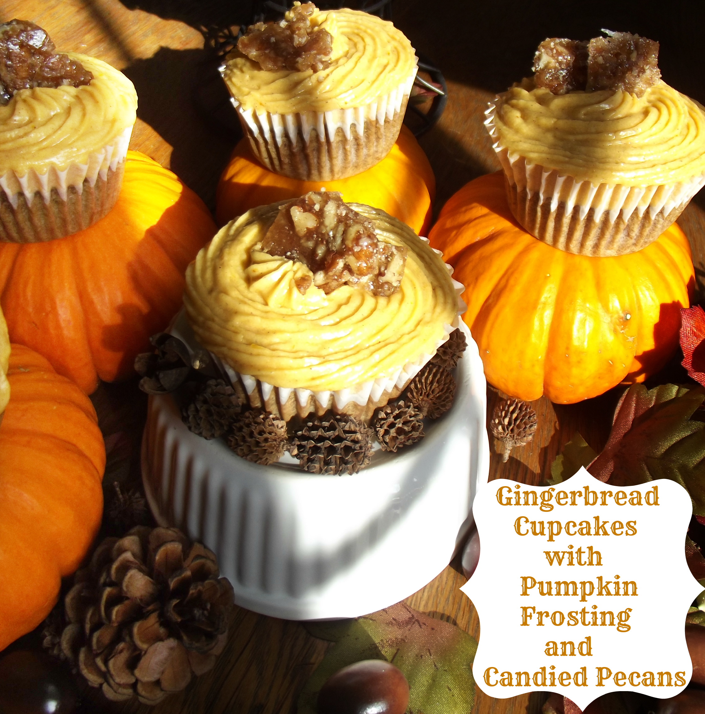Gingerbread Pumpkin Cupcakes5