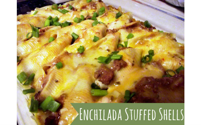 Enchilada Stuffed Shells!
