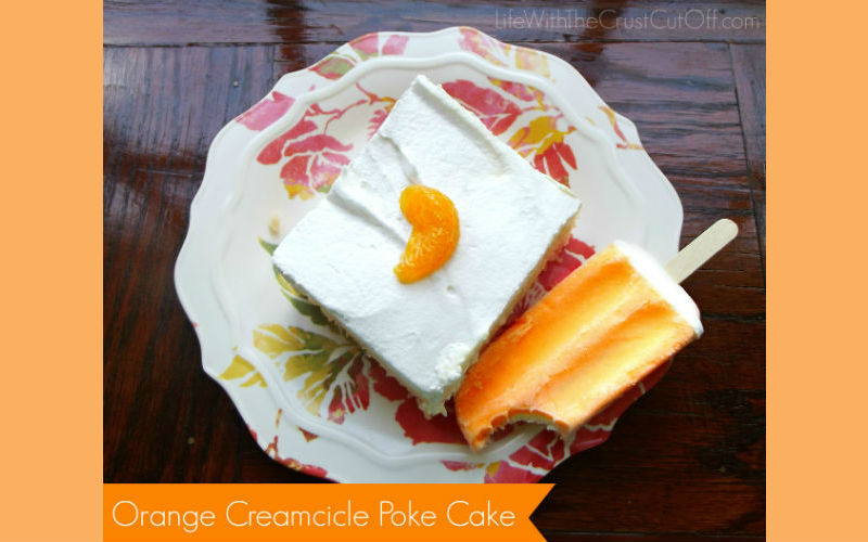 Orange Creamcicle Poke Cake