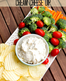 Roasted Garlic Cream Cheese Dip