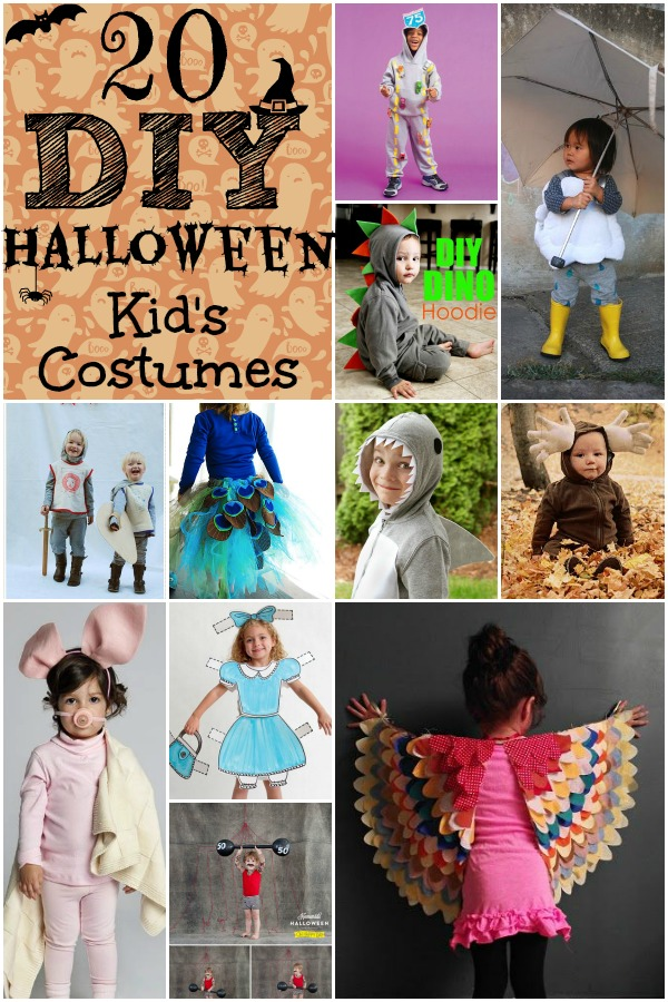20 DIY Halloween Kid's Costumes
