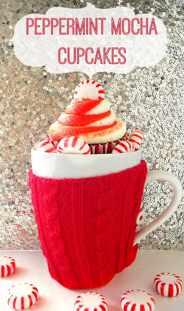 Peppermint Mocha Cupcakes #shop #loveyourcup #cbias