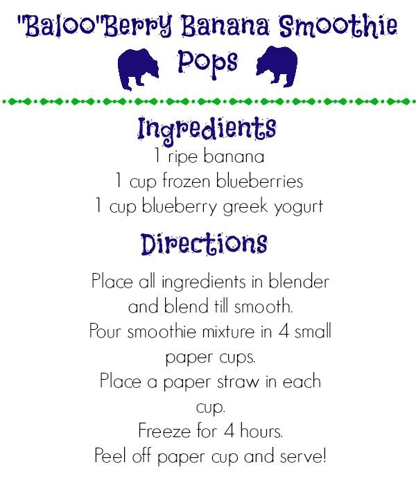 BalooBerry Banana Smoothie Pops recipe #JungleFresh #CollectiveBias #shop