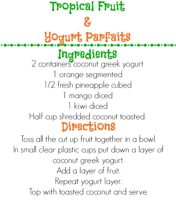 Tropical Fruit & Yogurt Parfaits Recipe #JungleFresh #CollectiveBias #shop
