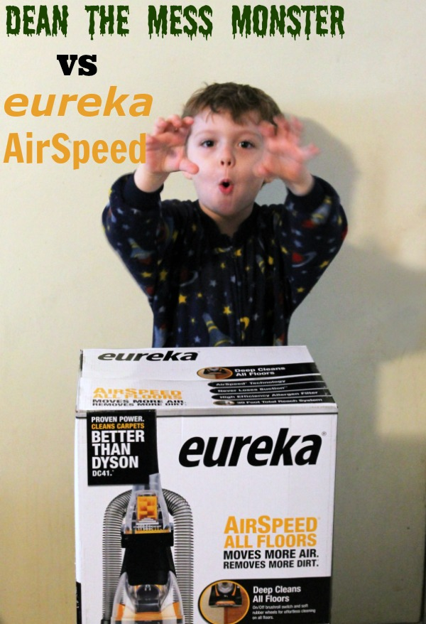 Dean the Mess Monster VS Eureka AirSpeed #EurekaPower #CollectiveBias #cbias