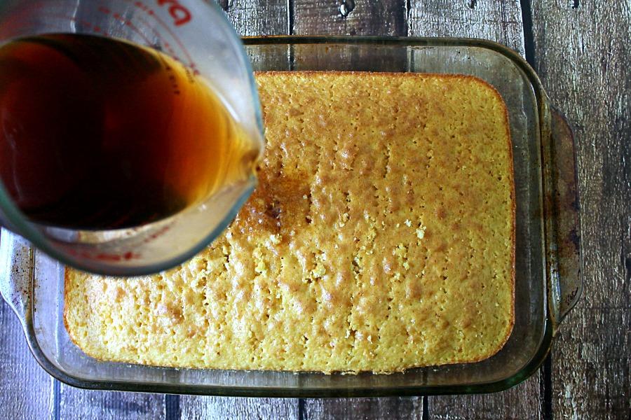 Coffee Poke Cake
