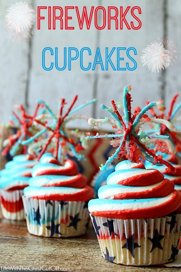 Fireworks cupcakes