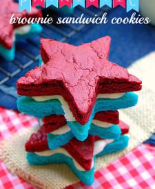 Patriotic Brownie Sandwich Cookies