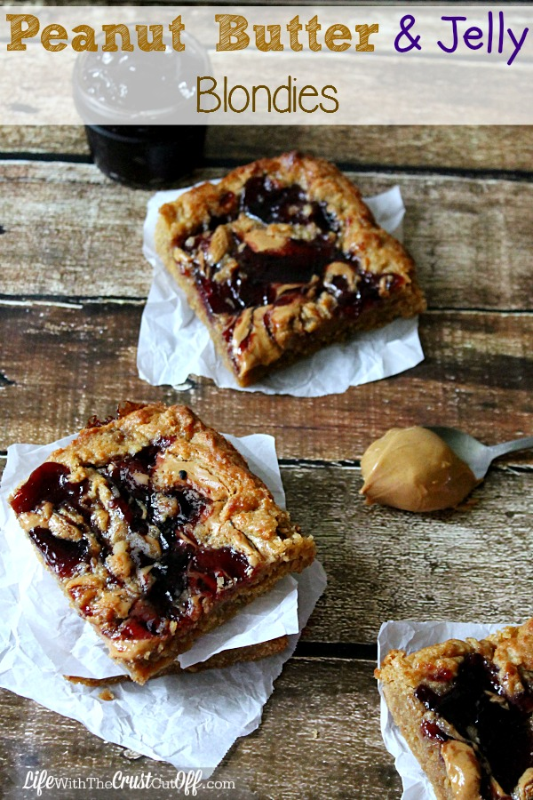 Peanut Butter & Jelly Blondies
