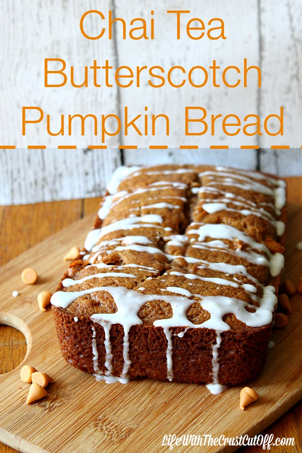 Chai Tea Butterscotch Pumpkin Bread #AmericasTea #CollectiveBias
