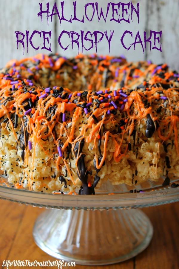 Halloween Rice Crispy Cake