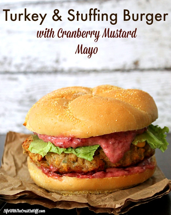 Turkey & Stuffing Burger  #TasteTheSeason #CollectiveBias