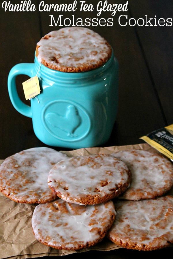 Vanilla Caramel Tea Glazed Molasses Cookies #AmericasTea #BigelowVIP #ColleciveBias