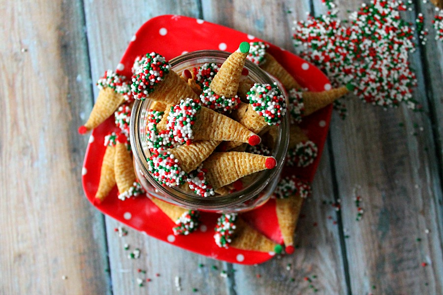 Elf Shoes (Peanut Butter Filled Bugles)
