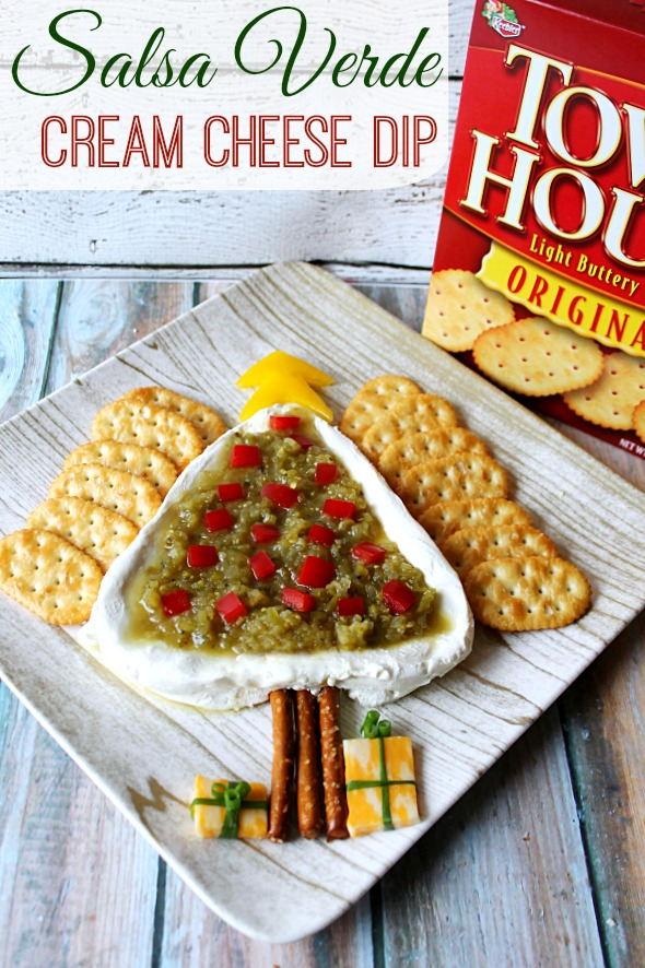 Salsa Verde Cream Cheese Dip  #WaysToWow #CollectiveBias