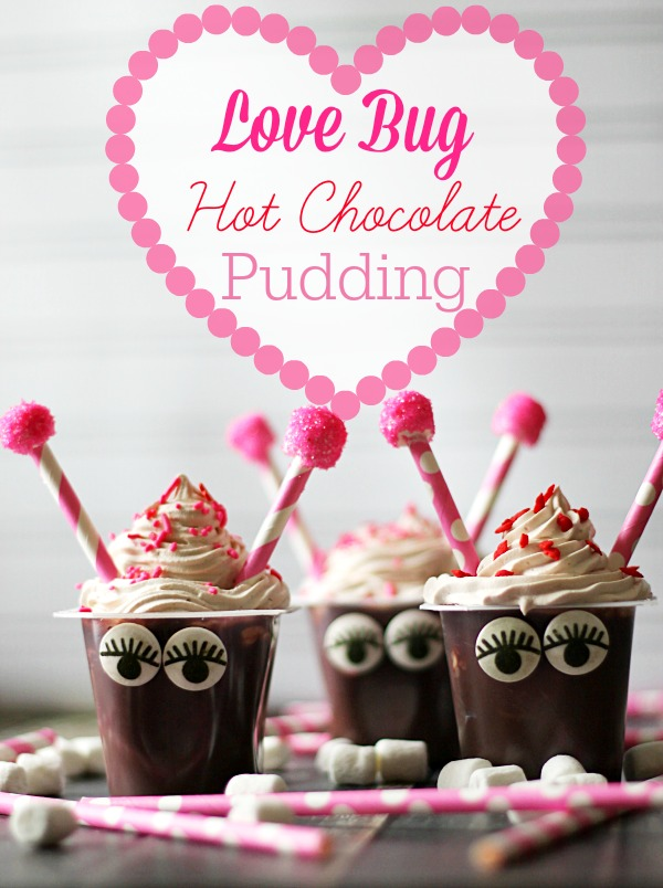Love Bug Hot Chocolate Pudding #SnackPackMixins #CollectiveBias