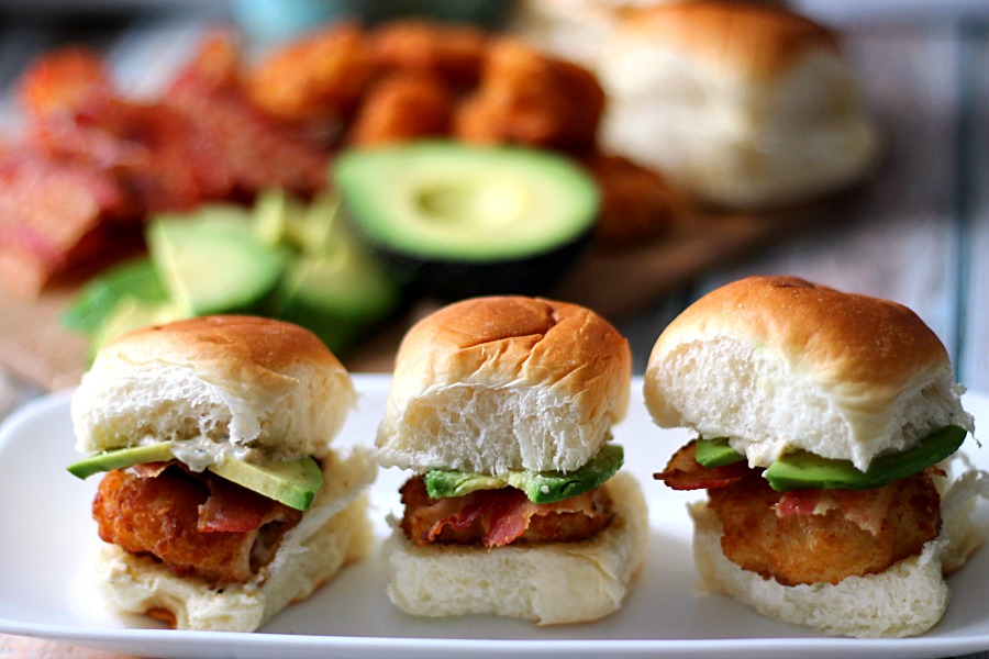 Avocado Bacon Shrimp Sliders #SamsClubSeafood #CollectiveBias