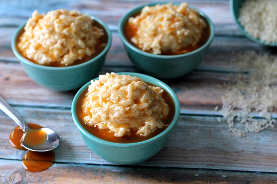 Salted Caramel Rice Pudding Sweetened Condensed Milk #AmericasTea #CollectiveBias