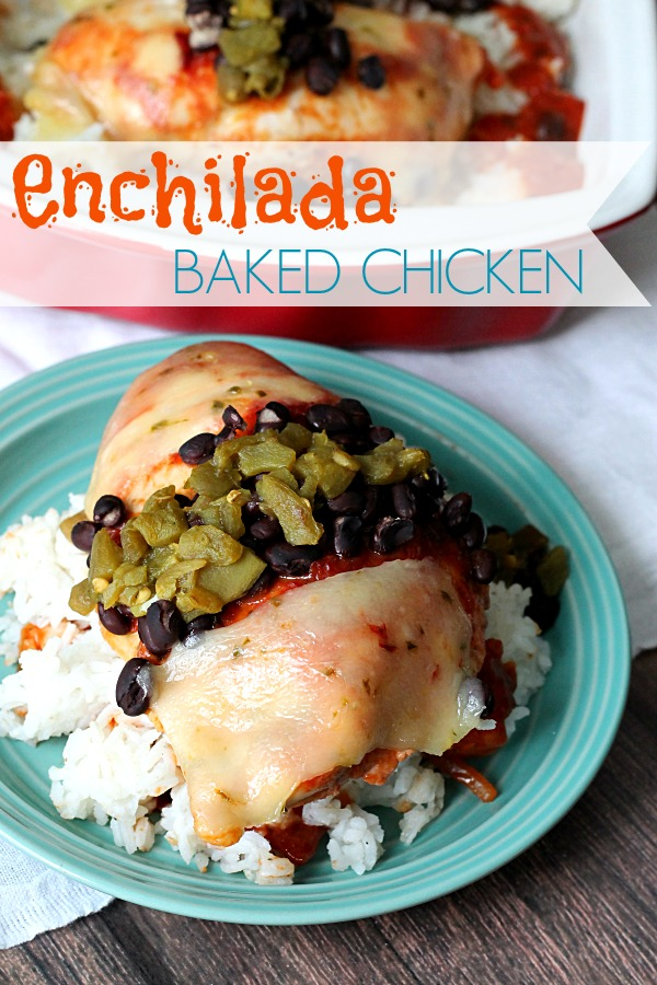 Enchilada Baked Chicken, Delicious and quick! #WeekNightHero #CollectiveBias