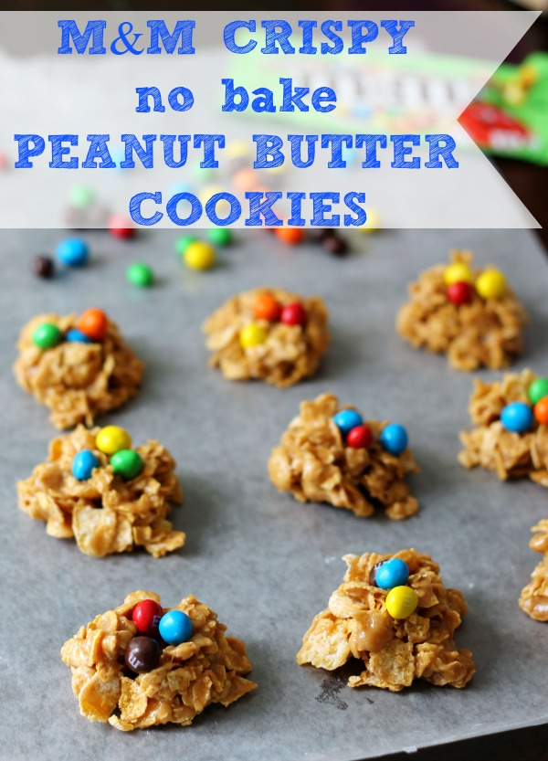 M&M Crispy No Bake Peanut Butter Cookies #CrispyIsBack #CollectiveBias