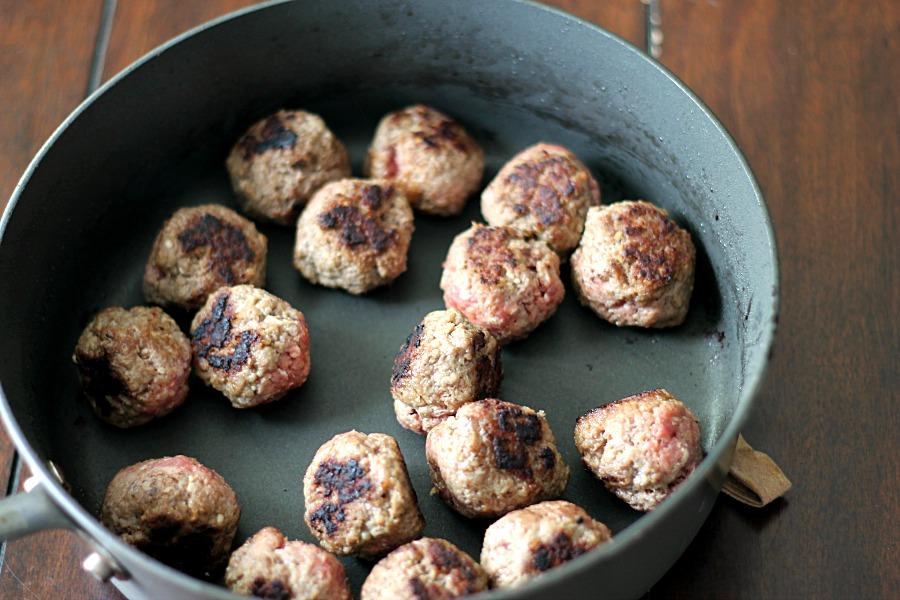 Seared Meatballs #WeekNightHero #CollectiveBias