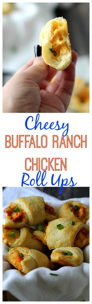 Cheesy Buffalo Ranch Chicken Roll Ups, Yum!!