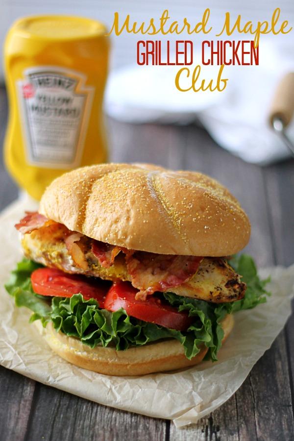 Mustard Maple Grilled Chicken Club #KetchupsNewMustard #CollectiveBias