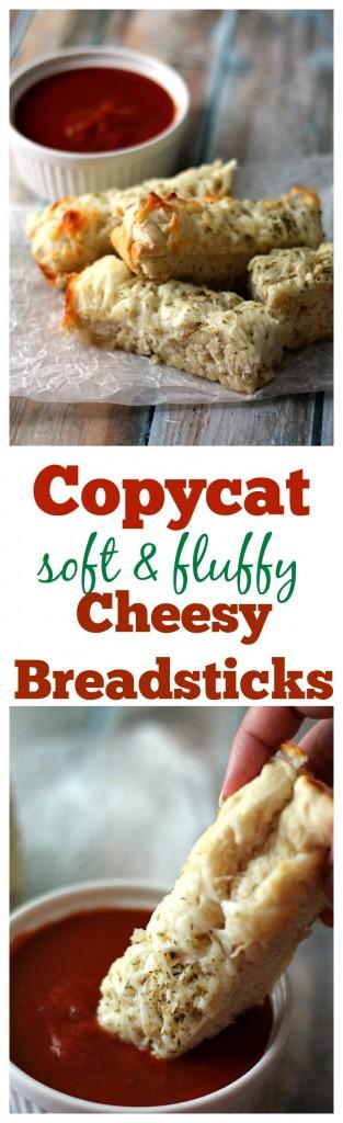 Copycat soft & fluffy Cheesy Breadsticks