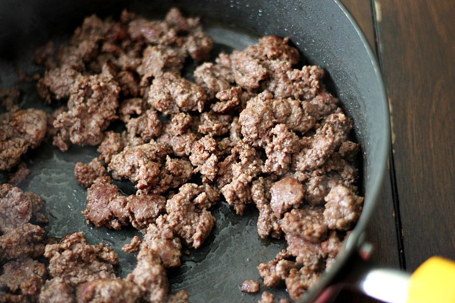 Brown the hamburger meat