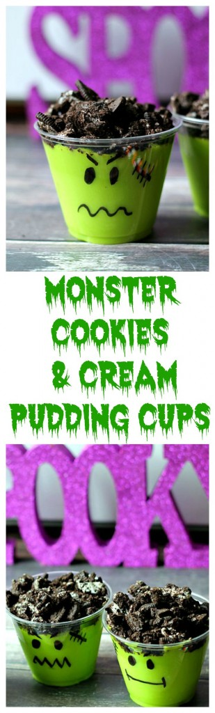 Monster Cookies & Cream Pudding Cups