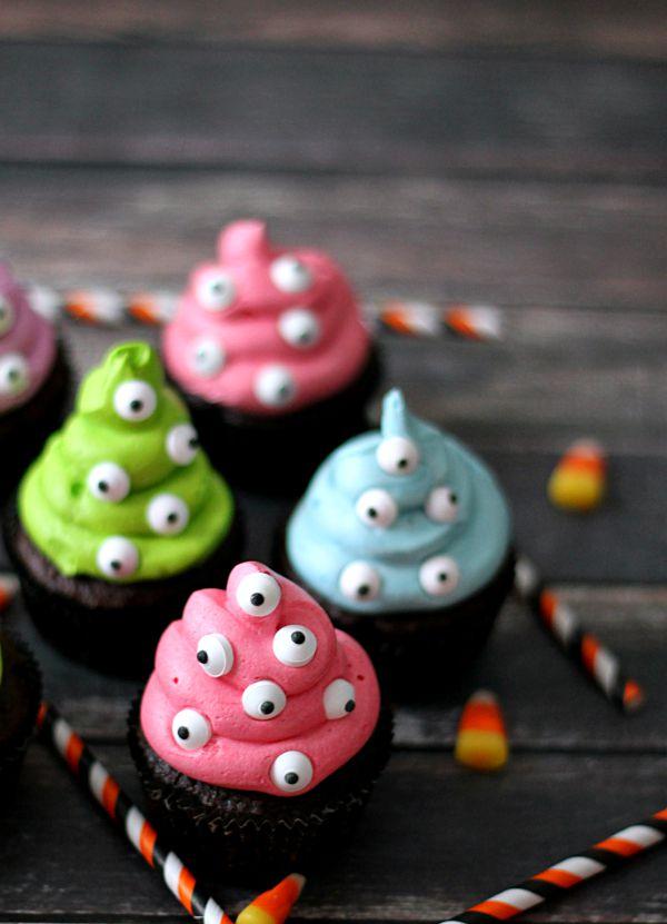 Spooky Eye Monster Cupcakes