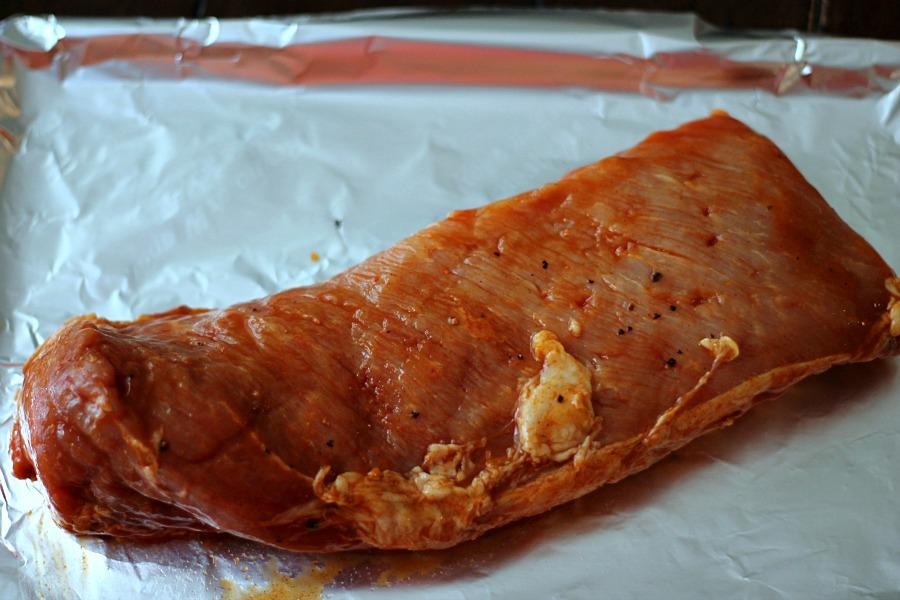 Uncooked Mesquite Pork Loin