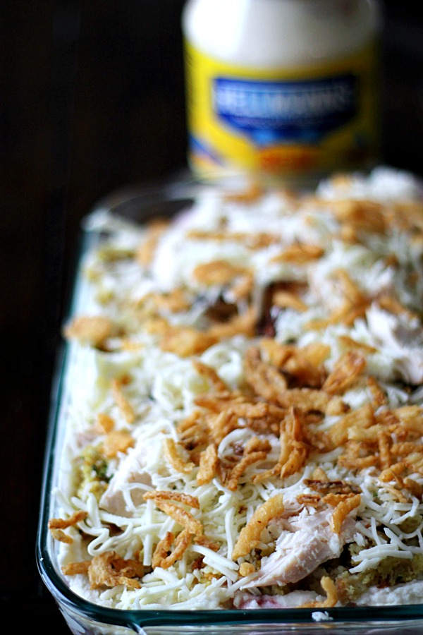 Cheese and onion topping