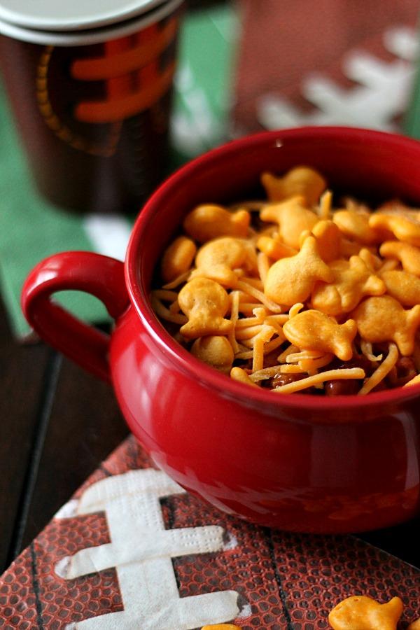 Goldfish Chili Topper