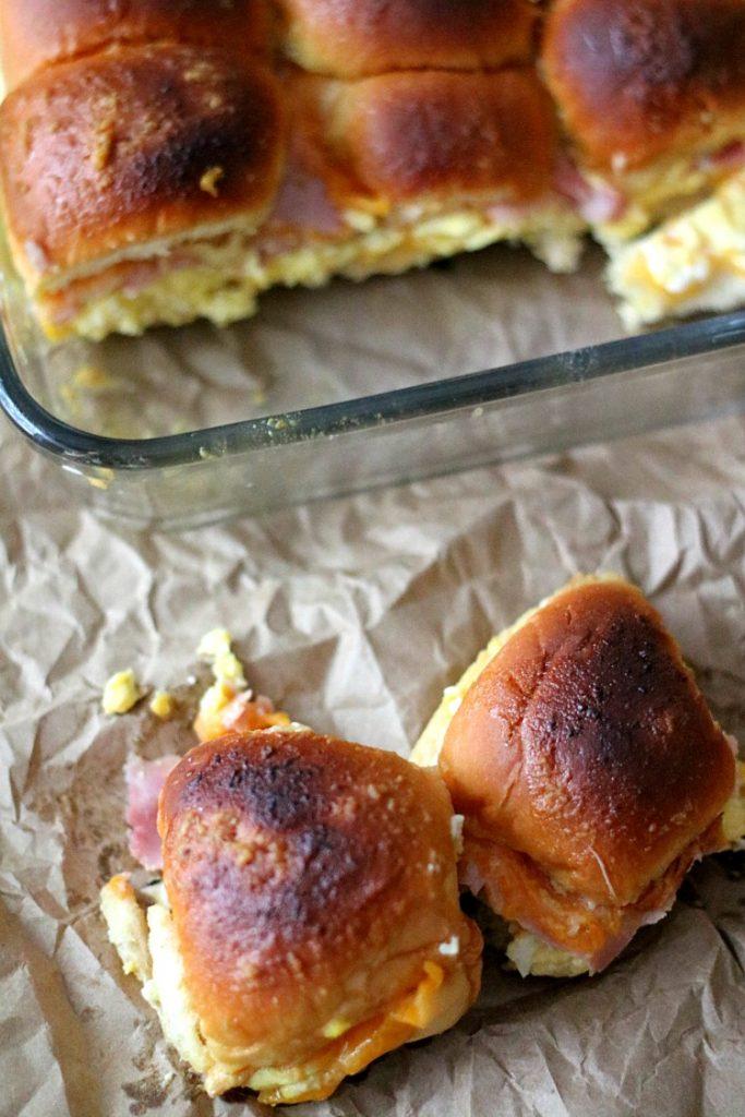 Ham, Egg & Cheddar Sliders