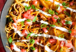 One Pot Taco Skillet Spaghetti_