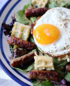 Sausage-Salad-with-fried-egg-1