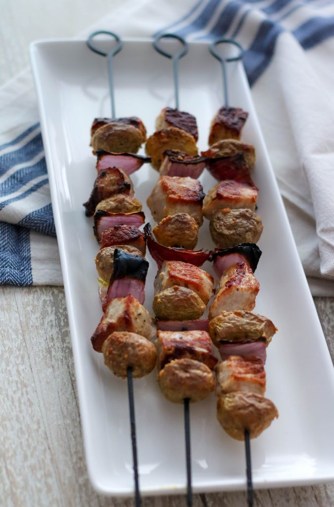 Te Best Pork and Potato Skewers