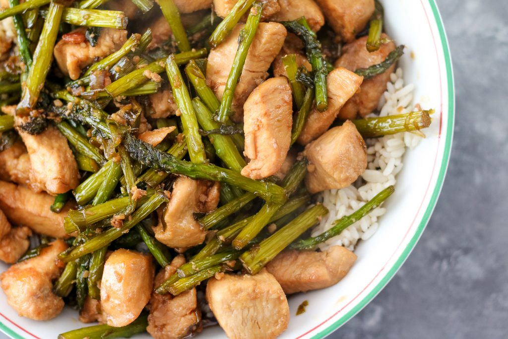 Chicken and asparagus with Minute Rice, yum (1 of 1)