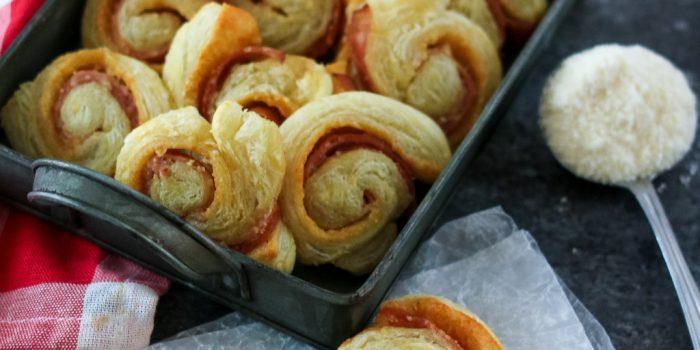 Cheese and Ham Spirals
