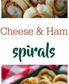 Cheese and Ham Spirals, yum