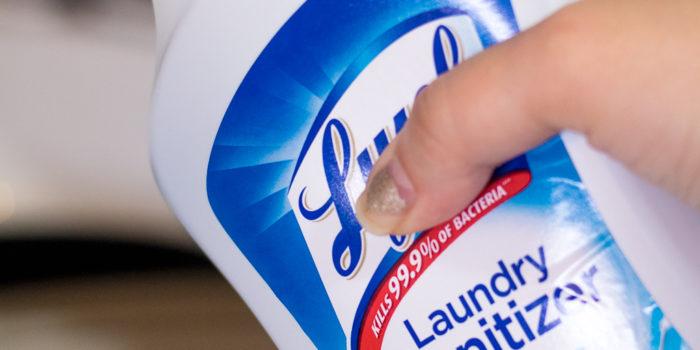 Love my Lysol Laundry Sanitizer