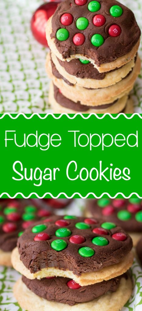 Fudge Topped Sugar Cookies