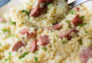 White Cheddar Rice and Sausage-5